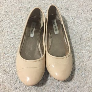 Steve Madden Nude Patent Leather Ballet Flats